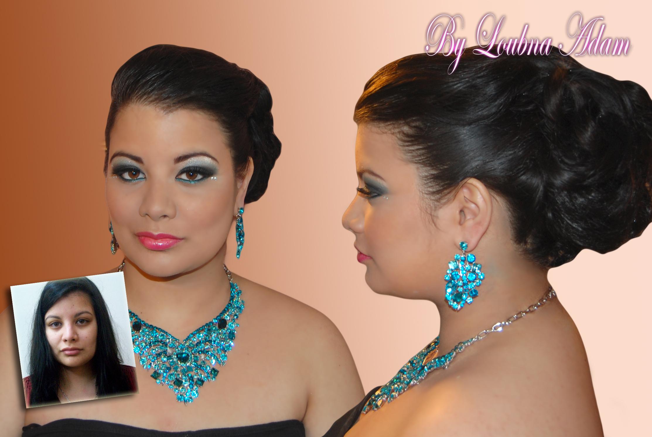 Un avant/après de la belle Maureen avec un magnifique maquillage libanais.  Maureen_rev1
