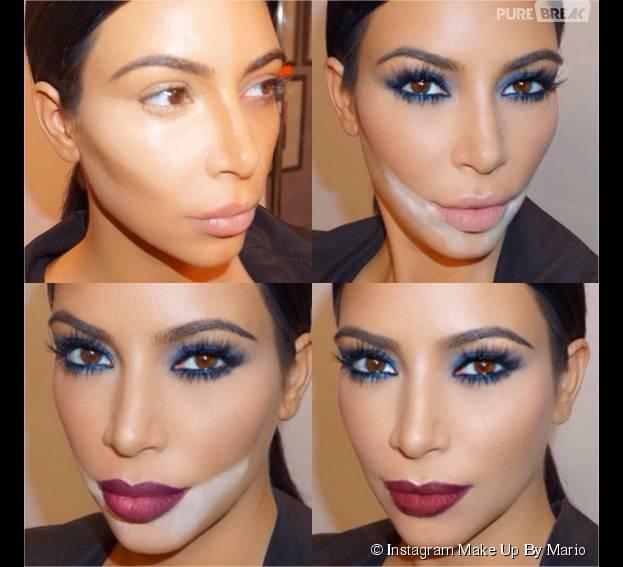 Extrêmement Le maquillage de Kim Kardashian : 50 étapes, 1500€ - Maquillage  WJ45